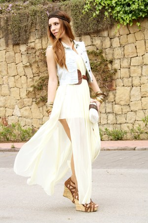 cream rmodi dress - light blue Pimkie vest