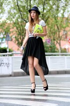 black Shop MADRID skirt - chartreuse rmodi bag