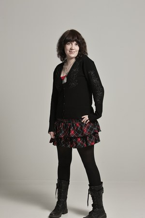 Salber boots - H&M leggings - H&M cardigan - New Yorker skirt - Quintess top