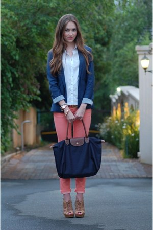navy Bershka blazer - Mr Price pants