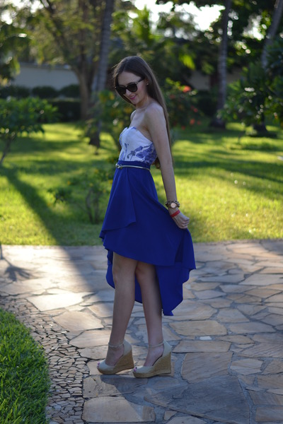 Forever New bracelet - YDE dress - Dolce & Gabbana sunglasses - Legit skirt