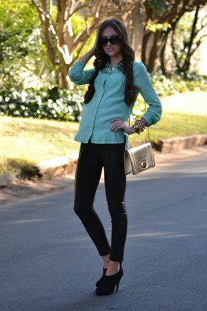 Legit blouse - Mr Price boots - Forever New bag - Ray Ban sunglasses
