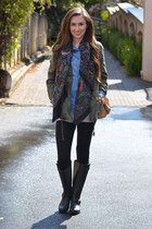 Mr Price jacket - Steve Madden boots - Foschini shirt - Mr Price tights