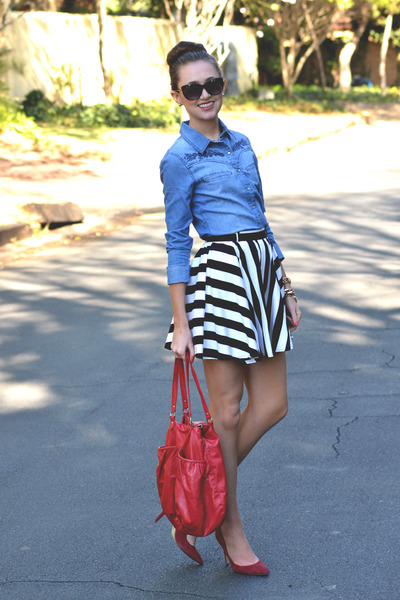 Mr Price skirt - Michael Kors watch - Woolworths heels