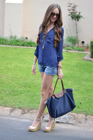 Michael Kors watch - longchamp bag - Dolce & Gabbana sunglasses - Aldo wedges