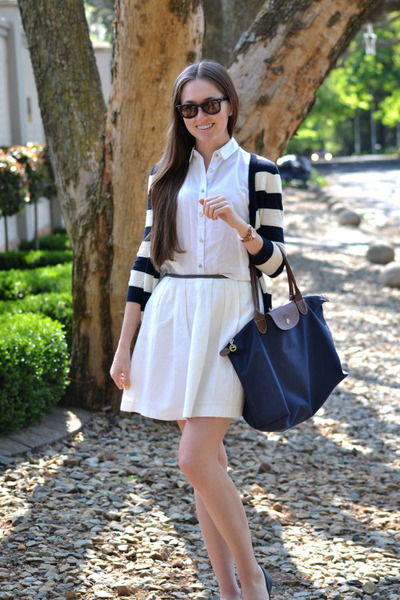 Mr Price skirt - Forever New purse - longchamp bag - Ray Ban sunglasses
