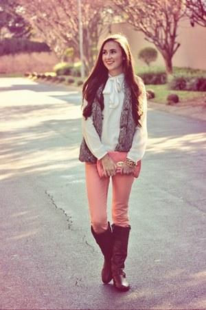 Legit boots - Mr Price jeans - Zara blouse - Michael Kors watch