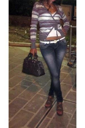 heather gray Tosca Blu purse