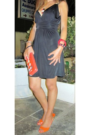 black baby phat dress - ruby red Moschino purse - Kimmidoll necklace