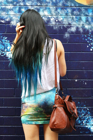 Black Milk skirt - Neon Hart shirt - Kimchi Blue bag - random bracelet