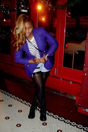 Jones New York blazer - black docs Doc Marten boots - Isabella Louis shirt