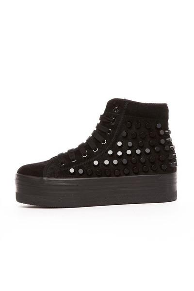 black Jeffrey Campbell sneakers