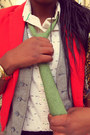 Red-h-m-blazer-lime-green-tie-eggshell-ant-print-anthropologie-blouse
