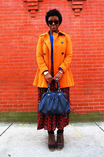 carrot orange pea coat Jessica Simpson coat