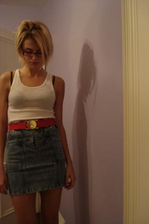 vintage skirt - vintage belt