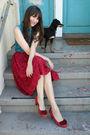 Vintage-worn-as-top-dress-vintage-skirt-anthropologie-shoes