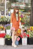vintage suit - thrifted bag - vintage blouse - Chelsea Crew heels
