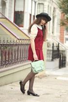 vintage dress - vintage Ferragamo shoes - goldenponies bag