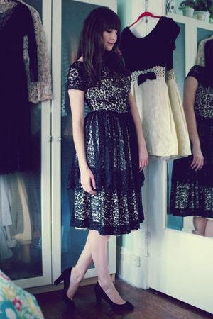 vintage dress - J Crew shoes