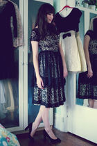 vintage dress - J Crew shoes