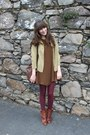 Anthropologie-boots-zara-dress-thrifted-coat-american-apparel-tights-ant