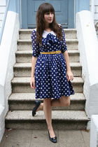 vintage dress - vintage belt - vintage Ferragamo shoes