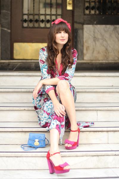 vintage dress - vintage hat - vintage bag - asoscom heels