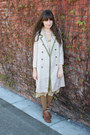 Chie-mihara-boots-vintage-dress-vintage-coat-american-apparel-tights