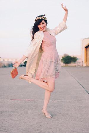 vintage dress - vintage coat - fletcher by lyell heels