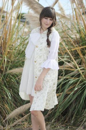 vintage jacket - vintage dress - dress
