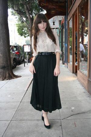 vintage blouse - vintage belt - vintage skirt - J Crew heels