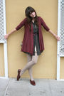 Fluxus-cardigan-thrifted-dress-vintage-shoes-vintage-purse-j-crew-belt-