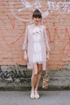 vintage dress - vintage hat - vintage jacket - Chelsea Crew heels