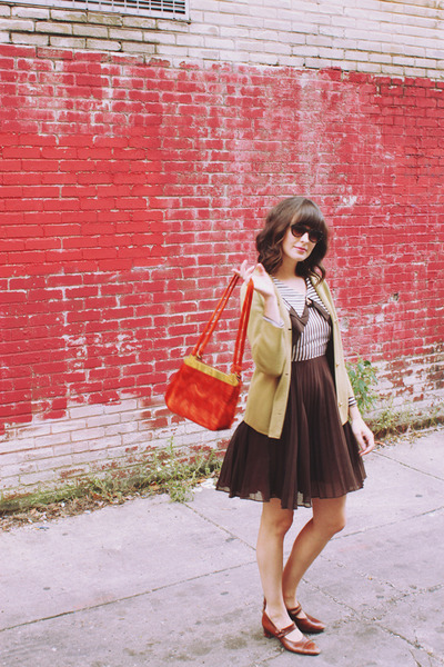 vintage dress - vintage purse - vintage cardigan - vintage heels