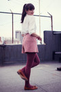 Thrifted-blouse-vintage-shorts-hue-tights-asoscom-shoes