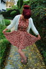 Brick-red-horse-print-modcloth-dress-eggshell-scalloped-forever-21-tights