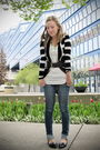 Guess-jeans-black-forever-21-cardigan-black-aldo-shoes