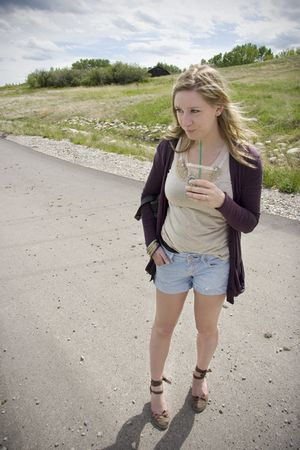 wilfred cardigan - J Crew shirt - American Eagle shorts - Aldo shoes