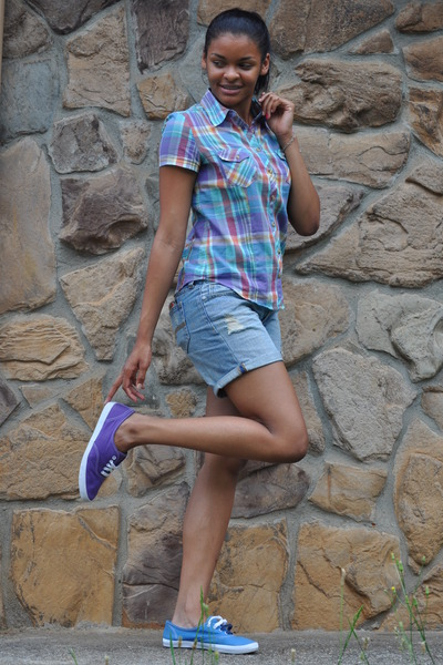 delias shirt - Keds shoes - Arizona shorts - payless shoes