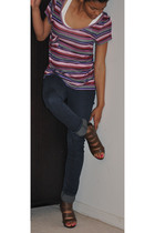 delias jeans - shoes - shirt - Tank top