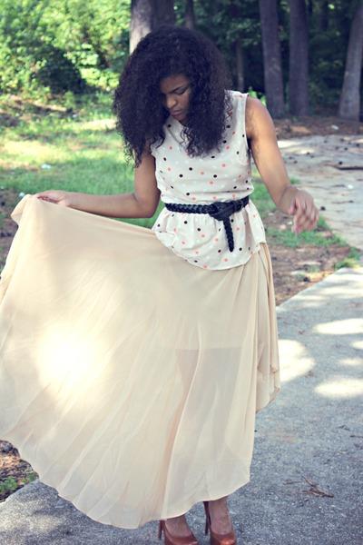 Forever 21 skirt - Forever 21 shirt - Bakers heels