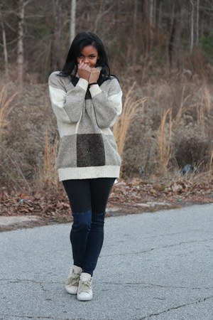 Forever 21 jeans - grandmothers unknown sweater - Bakers sneakers