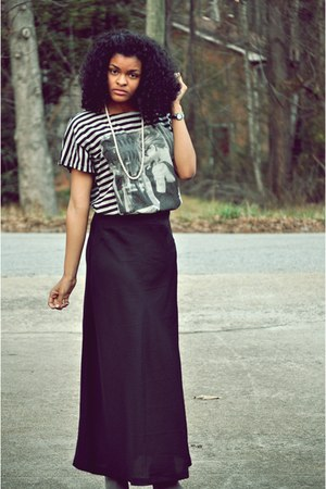 Urban Outfitters skirt - Forever 21 shirt - Shoe Land heels - Lynns inc necklace