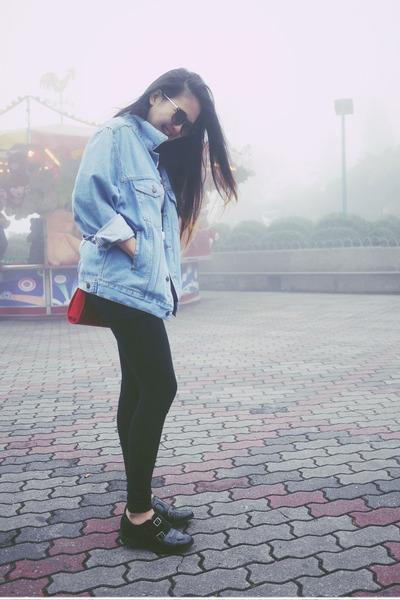 asos jacket - asos shoes - Stylenanda leggings - Monki shirt - Topshop bag