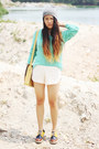Stylenanda-shoes-asos-hat-forever21-sweater-gmarket-bag-forever21-shorts