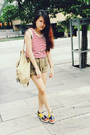 Stylenanda shoes - Topshop shorts - Topshop top