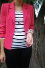 Red-vintage-blazer-black-new-yorker-pants-white-h-m-shirt