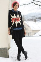 Primark sweater - beanie lucky star hat - jeans shirt Chicwish shirt