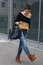 Aldo shoes - Miss Sixty jeans - Primark sweater - GlossyBox Style bag
