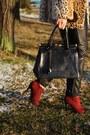Leopard-print-motel-coat-primark-boots-deichmann-hat-romwe-blouse